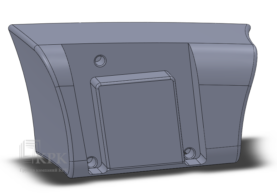 3D модель бака экскаватора JCB